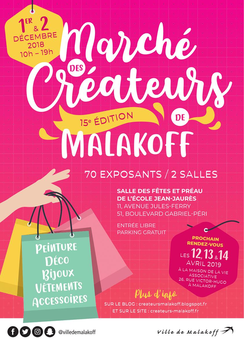 Doucho participe au Marché de Créateurs de Malakoff le 1er et 2 décembre 2018