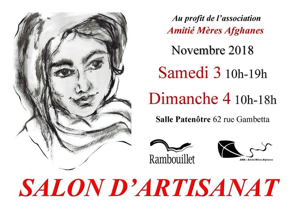Expovente à Rambouillet avec l'association Amitiés Mères Afghanes